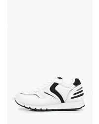 Женские бело-черные кроссовки от Dino Albat