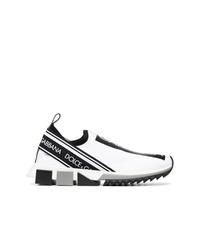Женские бело-черные кроссовки от Dolce & Gabbana