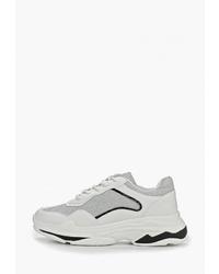 Женские бело-черные кроссовки от Findlay