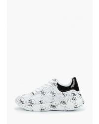 Женские бело-черные кроссовки от GUESS