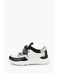 Женские бело-черные кроссовки от Pierre Cardin