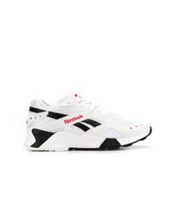 Женские бело-черные кроссовки от Reebok