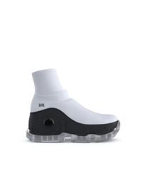 Женские бело-черные кроссовки от Swear