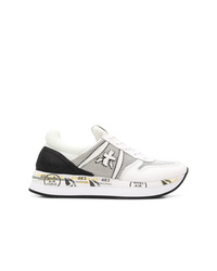 Женские бело-черные кроссовки от White Premiata