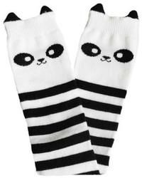 Бело-черные носки в горизонтальную полоску