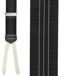 Бело-черные подтяжки в вертикальную полоску