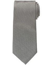 """Бело-черный галстук с узором """"гусиные лапки"""""""