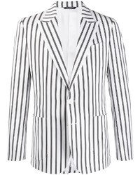 Мужской бело-черный пиджак в вертикальную полоску от Dolce & Gabbana