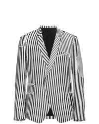 Мужской бело-черный пиджак в вертикальную полоску от Haider Ackermann