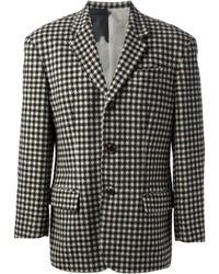 """Бело-черный пиджак с узором """"гусиные лапки"""""""