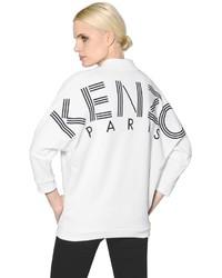 Бело-черный свитшот с принтом