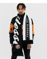 Мужской бело-черный шарф с принтом от Ellesse