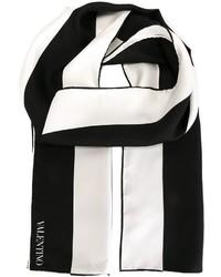 Бело-черный шарф