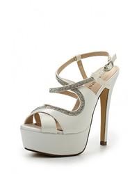 Женские белые босоножки на каблуке от Tulipano