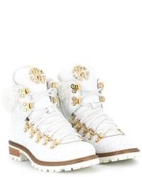 Детские белые ботинки для девочке от Roberto Cavalli