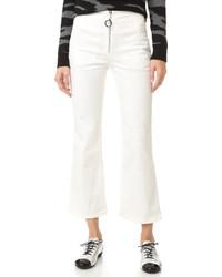 Женские белые брюки-клеш от Edun