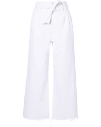 Белые брюки-кюлоты от J Brand