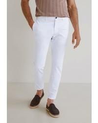 Белые брюки чинос от Mango Man
