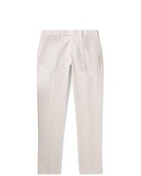 Белые брюки чинос от Salle Privée