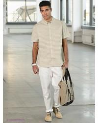 Мужские белые брюки чинос от Tom Farr