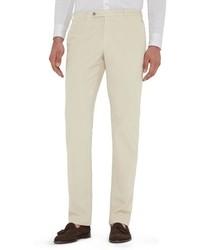 Белые вельветовые брюки чинос