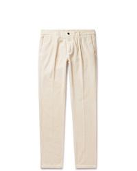 Белые вельветовые брюки чинос от Altea