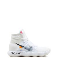 Мужские белые высокие кеды от Nike