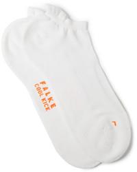 Белые вязаные носки