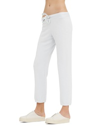 Белые вязаные спортивные штаны