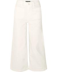 Белые джинсовые брюки-кюлоты от J.Crew