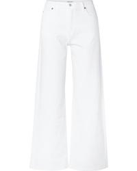 Белые джинсовые широкие брюки от Eve Denim