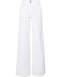 Белые джинсовые широкие брюки от Vanessa Bruno