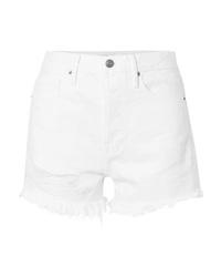 Женские белые джинсовые шорты от Frame