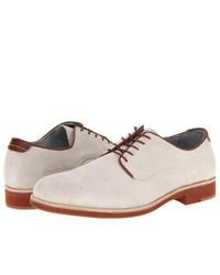 Белые замшевые туфли дерби