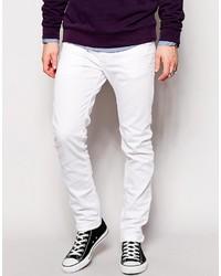 Мужские белые зауженные джинсы от Diesel