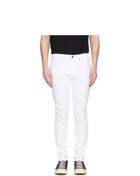 Мужские белые зауженные джинсы от Frame
