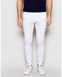 Мужские белые зауженные джинсы от WÅVEN