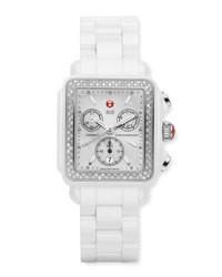 Белые керамические часы