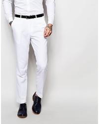 Мужские белые классические брюки
