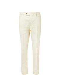 Мужские белые классические брюки от Brunello Cucinelli