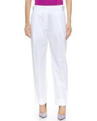 Женские белые классические брюки от Nina Ricci
