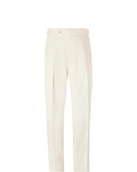 Мужские белые классические брюки от Richard James