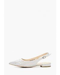 Белые кожаные балетки от Covani