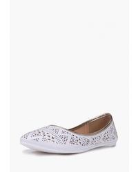 Белые кожаные балетки от T.Taccardi