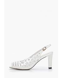 Белые кожаные босоножки на каблуке от Berkonty