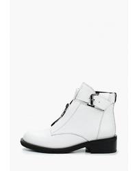 Белые кожаные ботильоны от Graciana