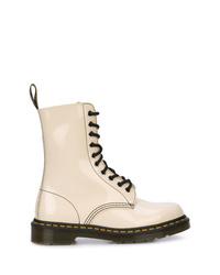 Женские белые кожаные ботинки на шнуровке от Marc Jacobs