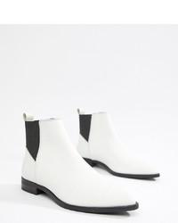 Женские белые кожаные ботинки челси от ASOS DESIGN