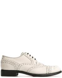 Мужские белые кожаные броги от Dolce & Gabbana