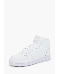Мужские белые кожаные высокие кеды от Nike